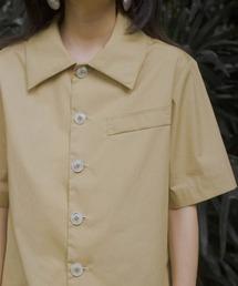 【LeonoraYang】Back slit cotton shirt chw1510イエロー