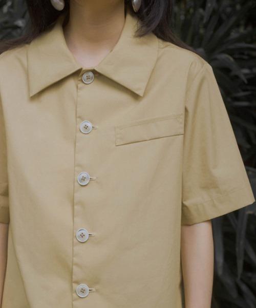 【LeonoraYang】Back slit cotton shirt chw1510