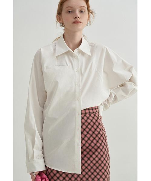 【Fano Studios】【2021SS】split solid color shirt FX21S246