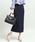 ViS(ビス)の「【WEB限定】ケーブルニットロングスカート(スカート)」|ネイビー