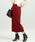 ViS(ビス)の「【WEB限定】ケーブルニットロングスカート(スカート)」|レッド