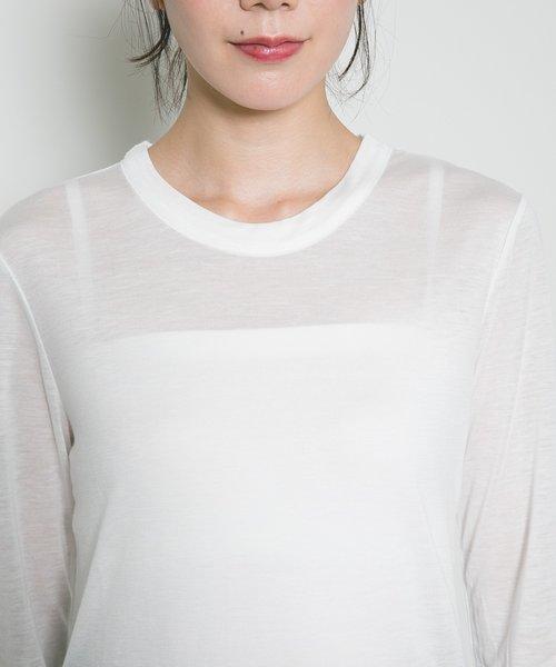 テンセルカシミヤロングTシャツ