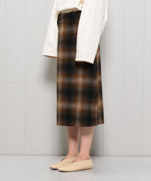 <MARGALET HOWELL>SHADOW CHECK SKIRT/スカート.