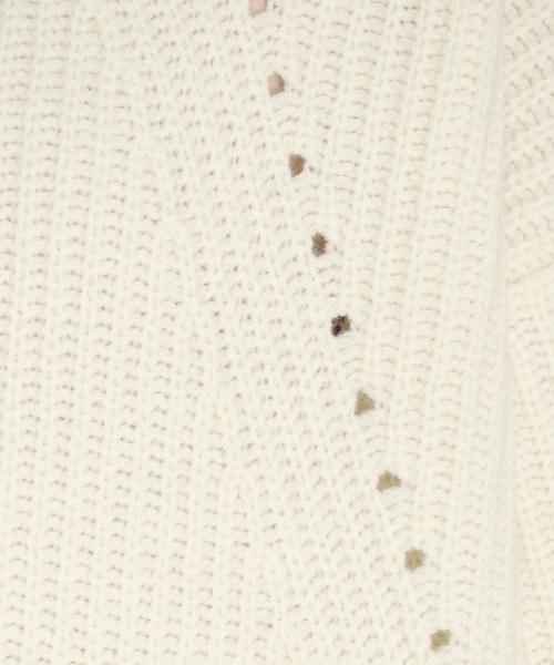 DRESSLAVE(ドレスレイブ)の「LA MOW mega sleeve onepiece(畦編みロングニットワンピース)(ワンピース)」 詳細画像