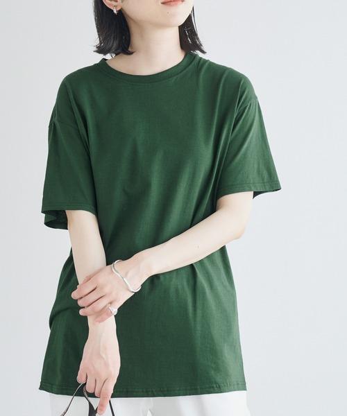 【FRUIT OF THE LOOM】レディース フルーツオブザルーム オーバーサイズ クルーネック 半袖 Tシャツ