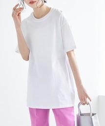 【FRUIT OF THE LOOM】レディース フルーツオブザルーム オーバーサイズ クルーネック 半袖 Tシャツホワイト