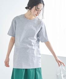 【FRUIT OF THE LOOM】レディース フルーツオブザルーム オーバーサイズ クルーネック 半袖 Tシャツヘザーグレー