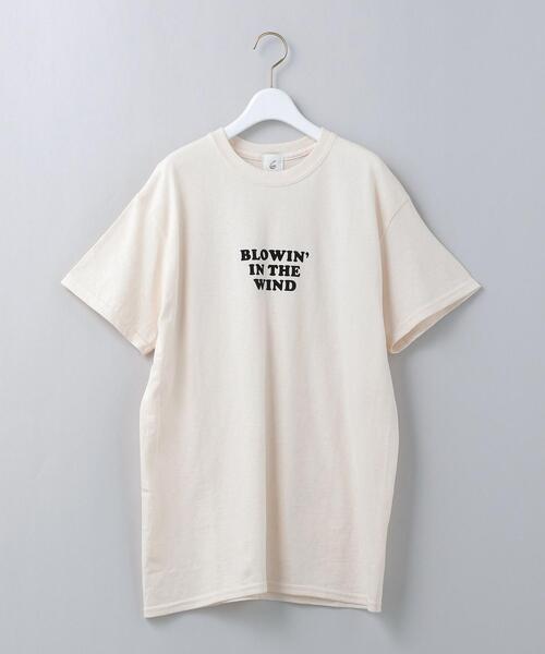 <6(ROKU)>BLOWIN IN THE WIND LOGO T-SHIRT/Tシャツ Ψ