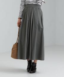 FFC メモリー ギャザー フレア スカート
