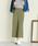 Pierrot(ピエロ)の「360°美脚見えミドル丈ワイドパンツ センタープレス(パンツ)」|ライトカーキ