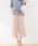 Pierrot(ピエロ)の「360°美脚見えミドル丈ワイドパンツ センタープレス(その他パンツ)」|ピンクベージュ