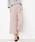Pierrot(ピエロ)の「360°美脚見えミドル丈ワイドパンツ センタープレス(パンツ)」|スモークピンク