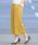 Pierrot(ピエロ)の「360°美脚見えミドル丈ワイドパンツ センタープレス(その他パンツ)」|イエロー