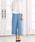 Pierrot(ピエロ)の「360°美脚見えミドル丈ワイドパンツ センタープレス(その他パンツ)」|ブルー