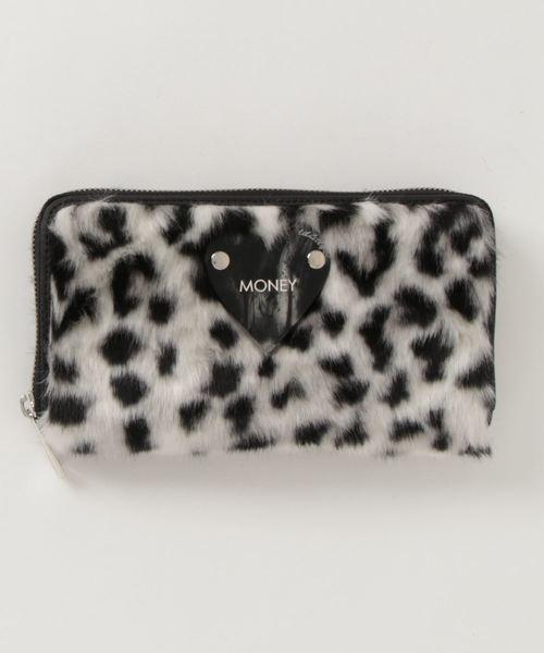 lilLilly(リルリリー)の「アニマルファーウォレット(財布)」|ホワイト