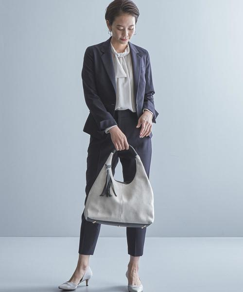 【WORK TRIP OUTFITS】タッセル A4 2WAY バッグ
