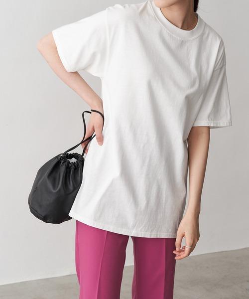 【Hanes】6.1 oz. Beefy レディース ヘインズ ビーフィー オーバーサイズ クルーネック 半袖 Tシャツ