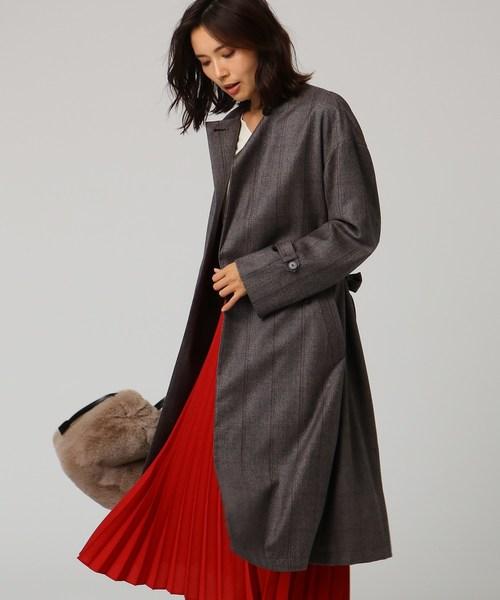 新しいスタイル [L]【洗える】ストレッチノーカラーロングコート(その他アウター) UNTITLED(アンタイトル)のファッション通販, オカヤマシ:59ed736e --- ruspast.com