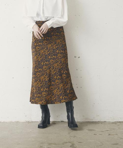 ヴィンテージ花マーメイドスカート