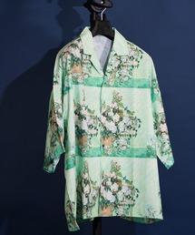 unrelaxing(アンリラクシング)のビッグシルエット柄アロハシャツ オーバーサイズ総柄開襟シャツ オープンカラーシャツ(シャツ/ブラウス)