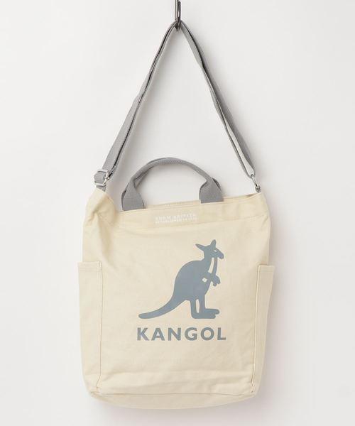【KANGOL】2WAY キャンバス ショルダーバッグ