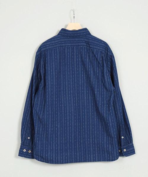 [OMNIGOD / オムニゴッド] オリジナル抜染プリントスプレッドカラーシャツ