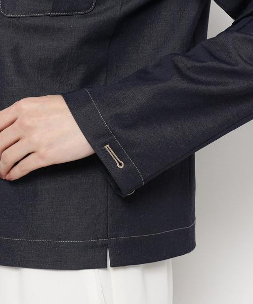 smart pink(スマートピンク)の「【洗える】シェルドライツイル ジャケット(デニムジャケット)」|詳細画像