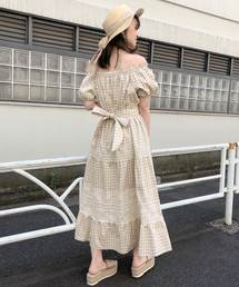 one after another NICE CLAUP(ワンアフターアナザーナイスクラップ)の【WEB STORE限定】レース切替えロングワンピース(ワンピース)