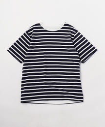 <A DAY IN THE LIFE>ボーダー×ソリッド リバーシブルTシャツ