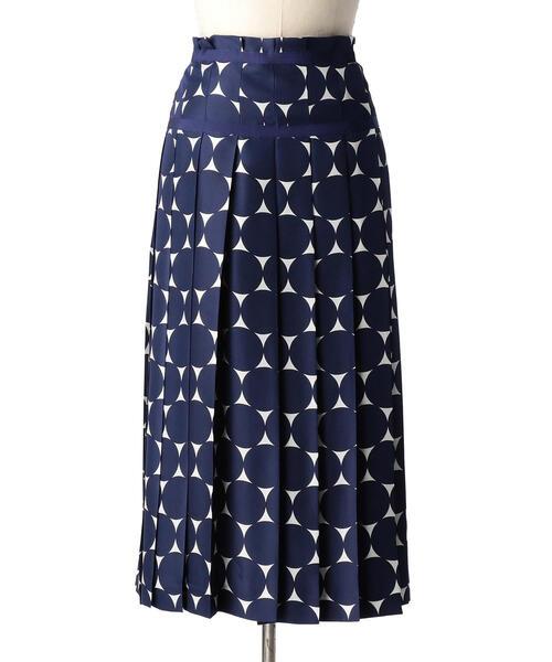 Drawer ドットプリントプリーツスカート