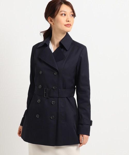 【ママスーツ/入学式 スーツ/卒業式 スーツ】ショートトレンチコート