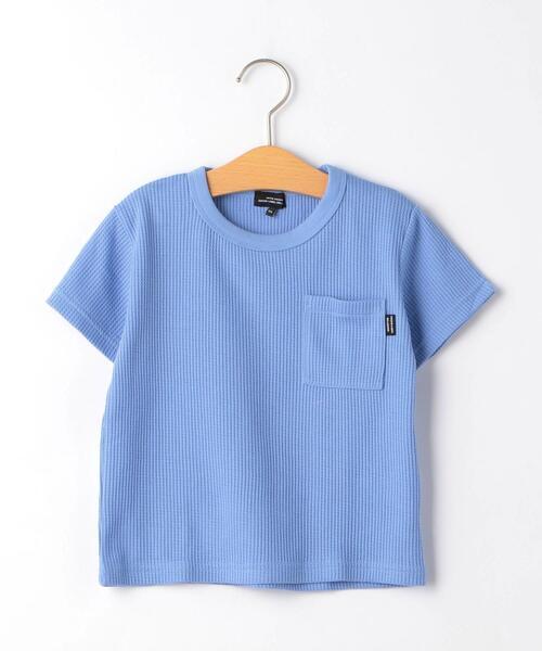 ◆【キッズ】〔吸水速乾〕ドライワッフルポケットTシャツ