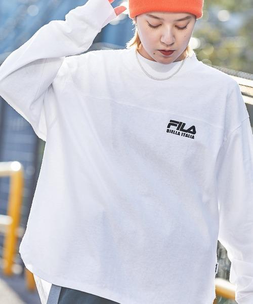 FILA/フィラ 別注 フロント&バックロゴ ビッグシルエットフットボール長袖Tシャツ/レディース