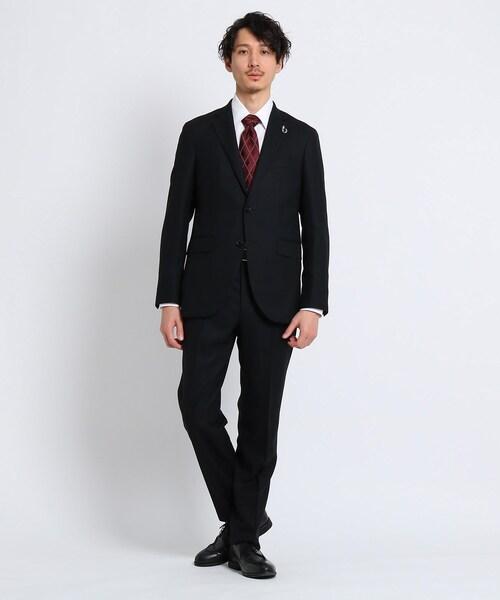 TAKEO KIKUCHI(タケオキクチ)の「【Sサイズ〜】毘沙門 セットアップスーツ(スーツセット)」|ブラック