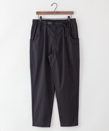 【着るバッグシリーズ】7ポケットイージーパンツ スリムシルエット 同色ワンポイントブランドロゴ ウエストEASY使用ブラック