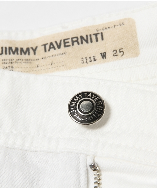 【JIMMYTAVERNITI/ジミータヴァニティ】 デニムパンツ ホワイト JANIS SLOUCHY/ジャニス スラウチー