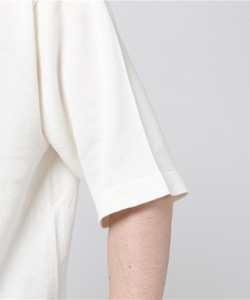 bukht/ブフト/ワイドリブニットTシャツ