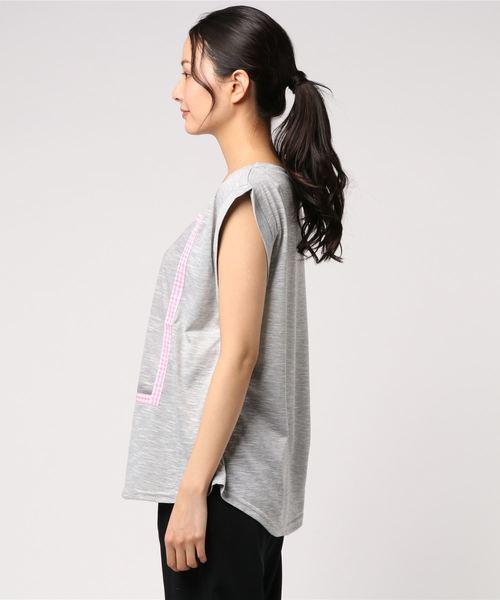 【BRIGITTE BARDOT/ブリジットバルドー】 ギンガムモチーフBBプリントTシャツ