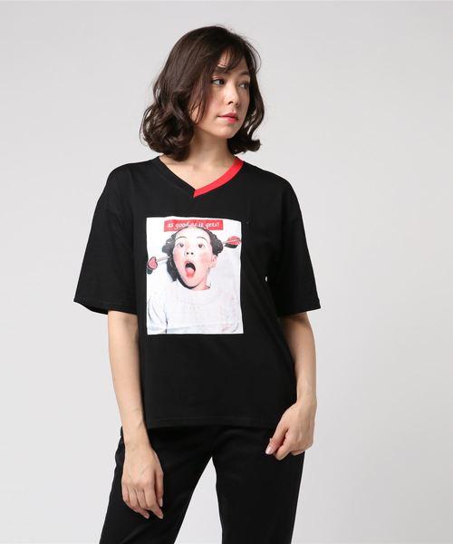 フォトプリント切替Tシャツ