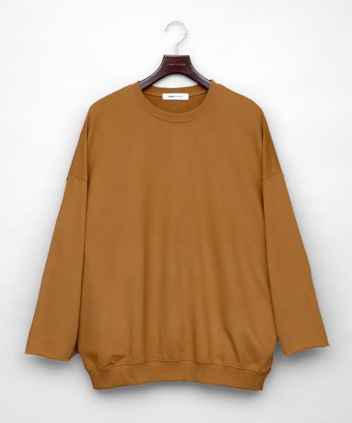 EMMA CLOTHES(エマクローズ)の「カットオフスリーブ ワイドプルオーバー/ビッグスウェット Long sleeve(スウェット)」 ベージュ系その他