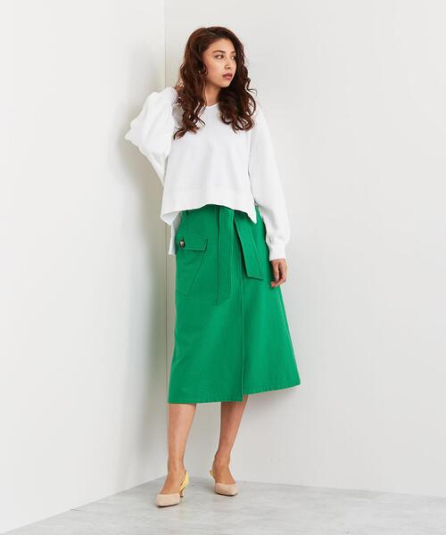 【EMMEL REFINES】SMF CRLIブークレサイドポケット スカート