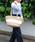 MONIQUE CHARTLAND by GOODY GRAMS(モニークチャートランドバイグッディグラムス)の「JUTE TRAVEL BAG ジュート トラベル バッグ(かごバッグ)」 ホワイト
