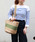 MONIQUE CHARTLAND by GOODY GRAMS(モニークチャートランドバイグッディグラムス)の「JUTE TRAVEL BAG ジュート トラベル バッグ(かごバッグ)」 グリーン