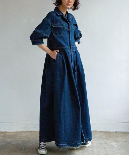 定番 デニムマキシワンピース(ワンピース) AVIE(アビィ)のファッション通販, 和寒町:0a653eec --- wiratourjogja.com