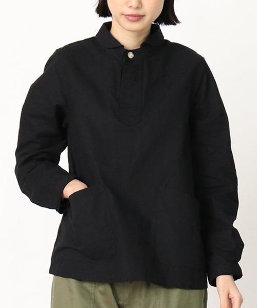 【 D*g*y / ディージーワイ 】 # 綿オックス丸襟シャツ D7398・・