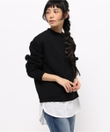 BLACK BY MOUSSY | Shirt combi cut tops(スウェット)