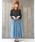 n'Or(ノアール)の「『n'Orフロントボタンデニムロングスカート』(デニムスカート)」|詳細画像