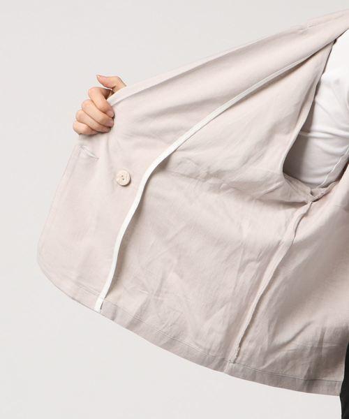 リネンダブルブレストジャケット