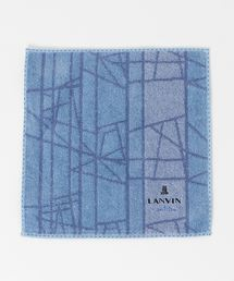 LANVIN en Bleu(ランバンオンブルー)の幾何学柄 ハンドタオル(ハンカチ/ハンドタオル)