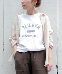 le.coeur blanc(ルクールブラン)のマルチエフェクト ヴィンテージ風プリントTシャツ(Tシャツ/カットソー)